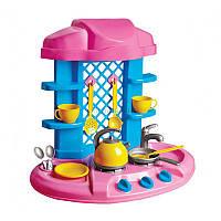 Игрушка Кухня 6 ТехноК, арт. 1066, детский игровой набор для девочек, детская кухня, посудка, плита