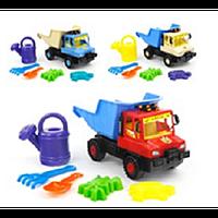 "Машина ""Сокол"" с набором. (лопатка +грабли (20см) +2паски+лейка) арт. L-015-2, детский грузовик"