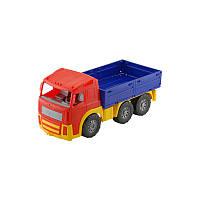 """Машина """"Акрос"""" бортовая №1 арт. 0534, детская машинка, игрушечный грузовик COLORplast"""