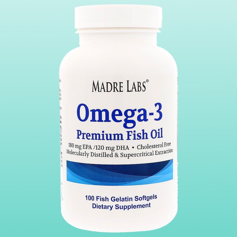 Риб'ячий жир Омега-3 преміум-класу, без ГМО, без глютену, 100 капсул з риб'ячого желатину