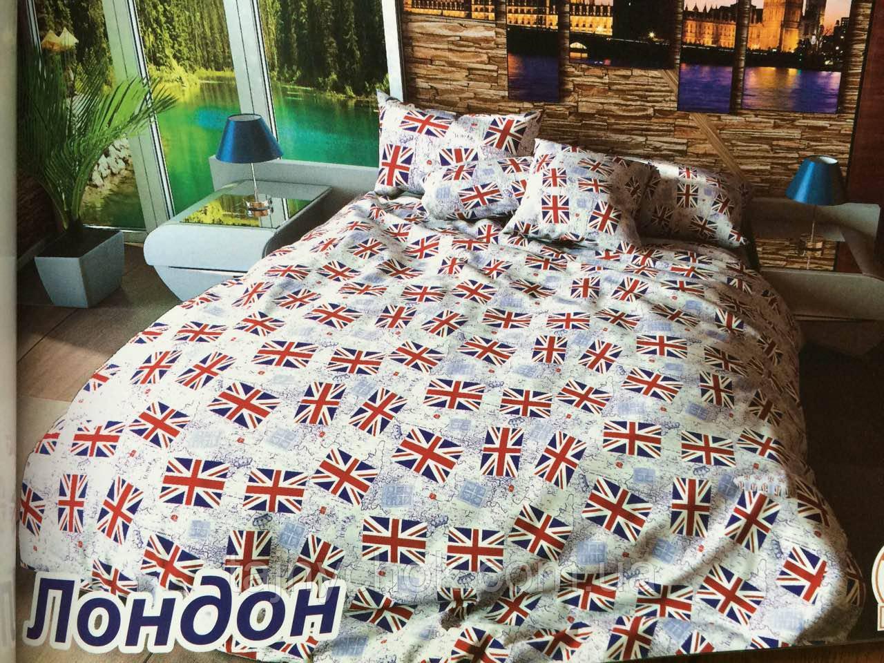 """Полуторное постельное белье """"Лондон флаги"""""""