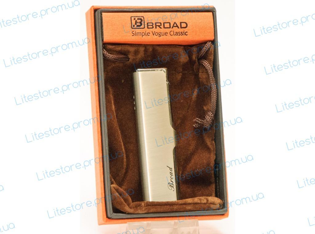 PZ15-4679 ПОДАРОЧНАЯ ЗАЖИГАЛКА BROAD, Красивая зажигалка, Зажигалка в подарочной упаковке, Зажигалка в коробке