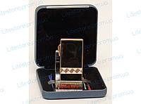 PZ15-64 ПОДАРОЧНАЯ ЗАЖИГАЛКА TIGER, Золотая зажигалка, Зажигалка в подарочной упаковке