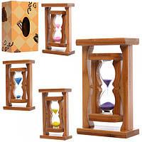 Деревянная игрушка Песочные часы MD 1114, развивающая игрушка для детей