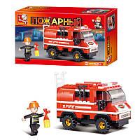 Конструктор Sluban Пожарная машина 133 детали (M38-В0276), конструктор для детей