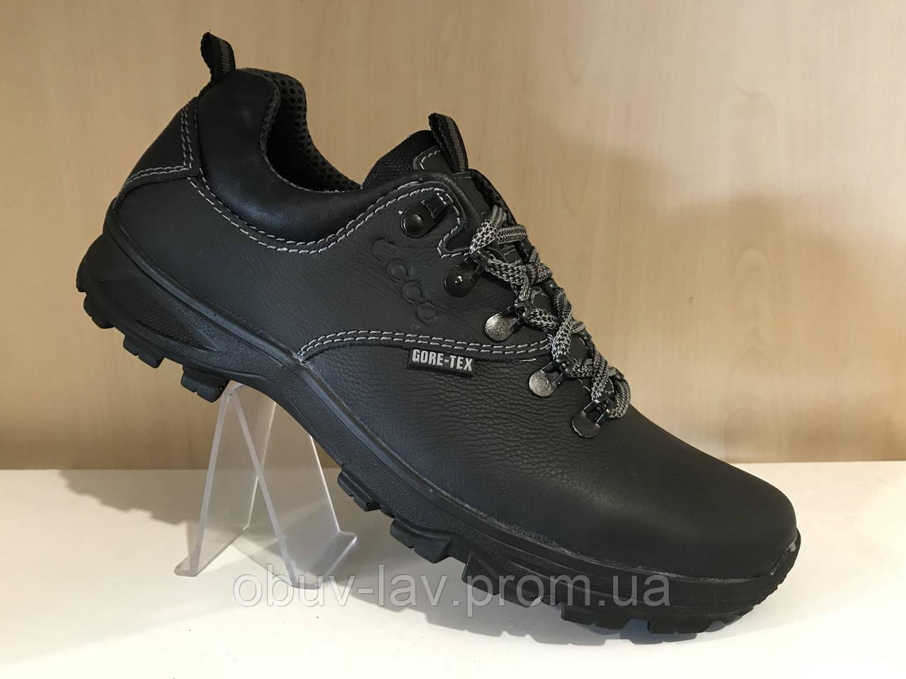 230060d83 Кожаные мужские кроссовки ecco чёрные - Интернет-магазин спортивной обуви