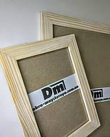 Рамка деревянная, шлифованная, с подложкой и стеклом 15х20см., фото 1