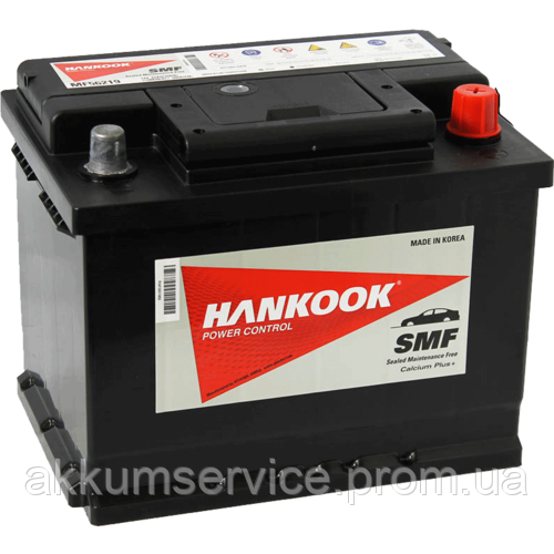 Аккумулятор автомобильный HANKOOK 74АH R+ 680А(MF 57412)