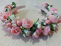 Веночек Розочки розовые