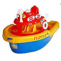 Катер Флипер на колесах № 01-112, игрушка, игрушечный катер, кораблик