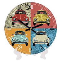 Круглые декоративные часы для дома Авто 18 см