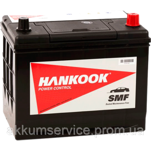 Аккумулятор автомобильный HANKOOK 70АHR+ 680А(MF 100D26FL)