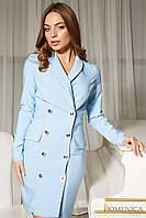 Стильное платье-пиджак двубортное деловой стиль (разные цвета)