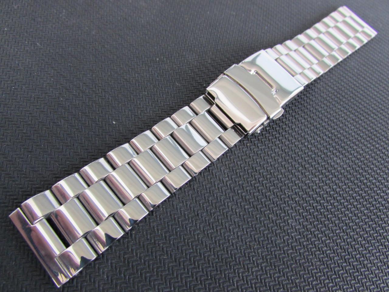 Браслет для часов из нержавеющей стали, глянец, 20-й размер.