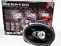Акустика MEGAVOX MAC-9778L (300W), коаксиальные двухполосные, Динамики овальные 6x9, Автоколонки
