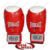 Боксерские перчатки Everlast кожа, 10oz. Красные