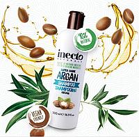 Увлажняющий шампунь для блеска волос с аргановым маслом Inecto Naturals Argan Shampoo 500 ml