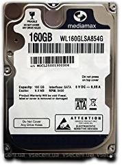 Жесткий диск для ноутбука 160 Гб Mediamax, SATA 2, 8Mb, 5400 rpm (WL16