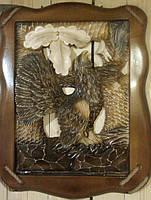 Настенная резная картина из дерева Глухарь