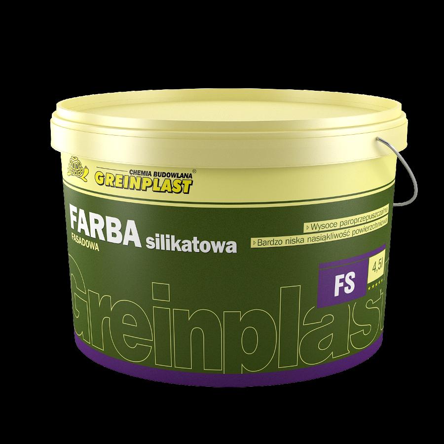 Фасадна силікатна фарба GREINPLAST FS, силікатна фарба Грейнпласт, відро 13,5кг