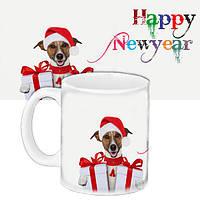 Кружка подарок с принтом Новый год 2018