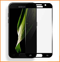 Защитное стекло 3D Full Cover для Samsung A7 (2017) SM-A720 Black (Screen Protector 0,3 мм)