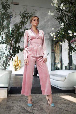 Бархатный костюм с шёлковыми вставками, фото 2