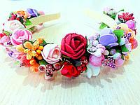 Веночек-обруч для волос Цветочный сад