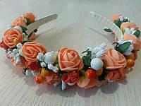 Веночек Розочки персиковые