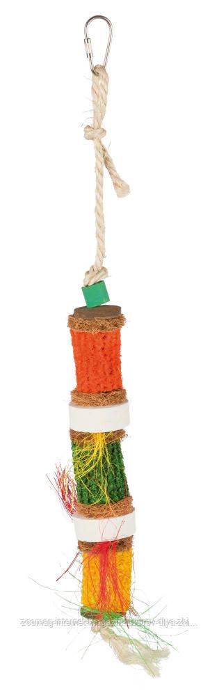 """Игрушка для попугая """"Мультиколор с кукурузными початками"""" 30см, Trixie"""