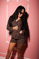 Стильный женский костюм с шортами и пиджаком