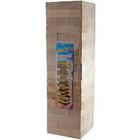 """Игра настольная """"Дженга-Гигант"""", массив дерева (54 брусков)(43х12,5х12,5 см)"""