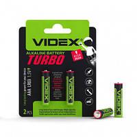 Батарейка щелочная Videx LR03/AAA 1.5V Turbo 2pcs BLISTER (20/360)