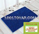 """Коврики из микрофибры """"Макароны или дреды"""" для широкого применения, 60х40 см., синий цвет, фото 2"""