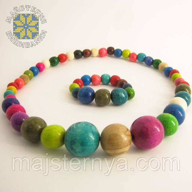 Купити намисто з браслетом різнокольорове