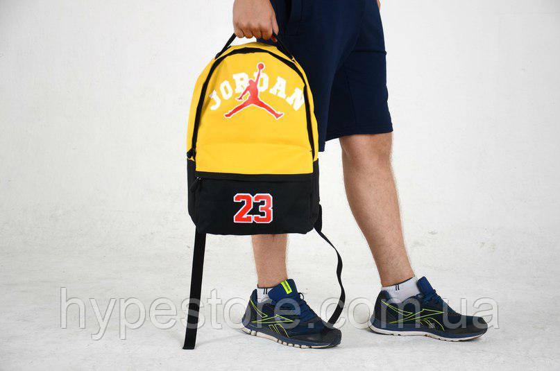 Городской рюкзак Jordan 23, Джордан (черно-желтый), Реплика