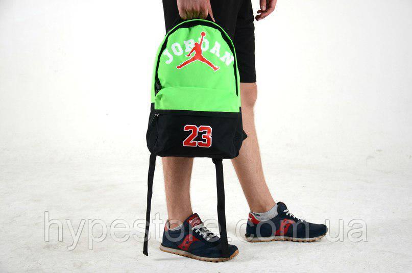 Городской рюкзак Jordan 23, Джордан (черно-салатовый), Реплика