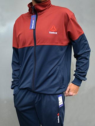 Мужской спортивный костюм Reebok (Рибок) | Турция, Трикотаж лакост, Большие размеры: 50-56, фото 2