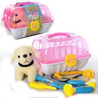 Игровой набор Доктор 251 собачка в чемодане, 6 предметов