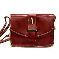 Стильная женская красная сумка клатч классика