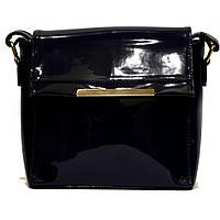 Модная женская синяя лаковая сумка клатч