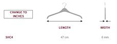 Прочные вешалки 47см плечики тремпеля из двойного пластика, фото 2