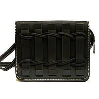 Стильная женская черная сумка клатч Переплеты