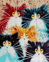 Картины по номерам 40×50 см. Пушистое семейство Художник Ким Хаскинс, фото 1