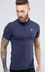 Мужское поло Jordan синего цвета