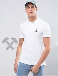 Мужское поло Jordan белого цвета