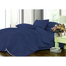 Элитное постельное белье сатин однотонный CLASSIC BLUE, №4052 (Полуторный)