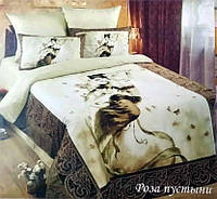 Комплект постельного белья Love You сатин Роза пустыни евро