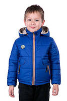 Двухсторонняя курточка для мальчика Малыш электрик, размер 26, 28, 30
