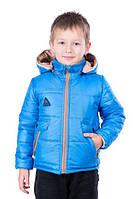Двухсторонняя курточка для мальчика Малыш голубой, размер 26, 28, 30